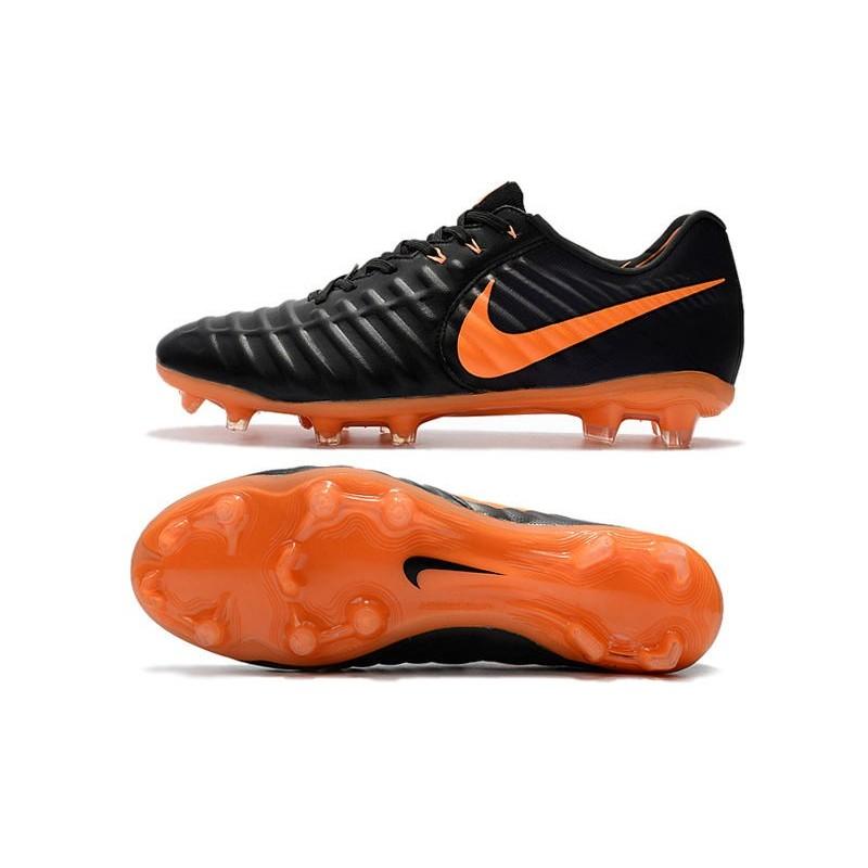 0703a87dc40 Football Cleats Nike Tiempo Legend VII FG - Black Laser Orange