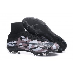 Football Boots For Men Nike Mercurial Superfly 5 FG Camouflage Grey Black
