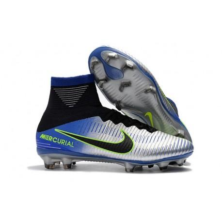 Football Boots For Men Nike Mercurial Superfly 5 FG Racer Blue Black Chrome Volt