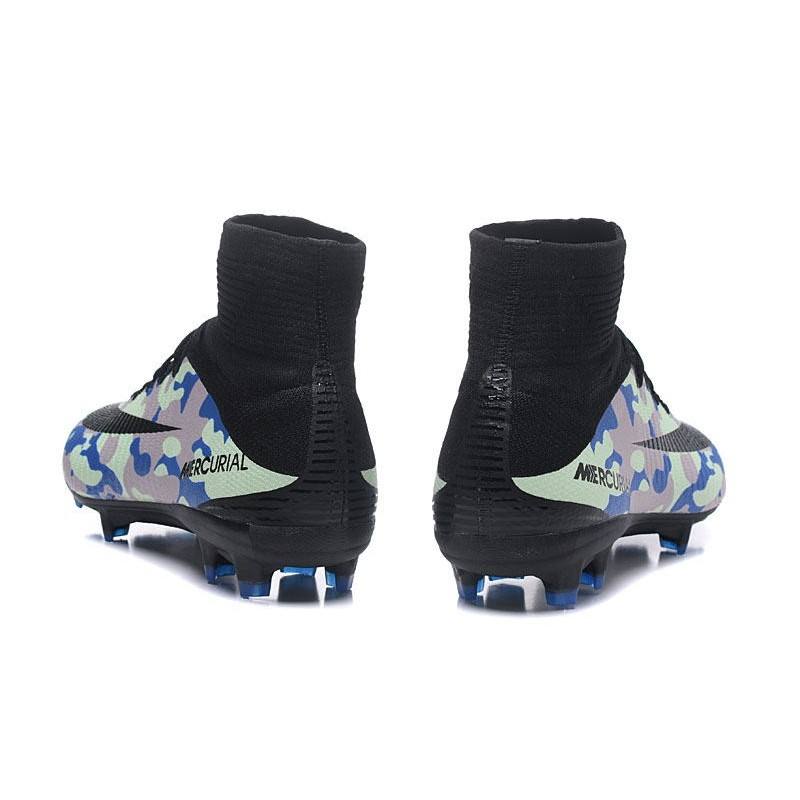 28003b1554d Football Boots For Men Nike Mercurial Superfly 5 FG Camouflage Blue Black