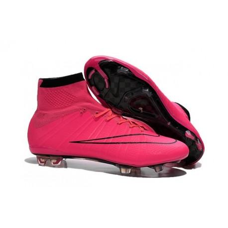 Nike Mercurial Superfly IV FG Soccer Boots - Hyper Pink BlackShoes For Men