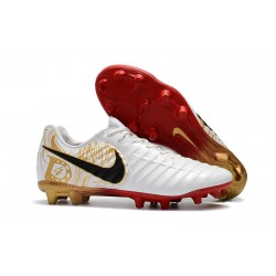 Football Cleats Nike Tiempo Legend VII FG - White Gold Black
