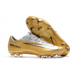 Nike Mercurial Vapor XI FG Soccer Cleats On Sale Gold White