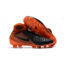 New Nike Magista Obra II FG Soccer Shoes For Sale Black White Hyper Crimson