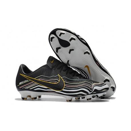 New Shoes - Nike Mercurial Vapor XI FG For Men Black White Gold