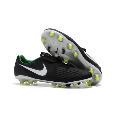 Nike Magista Opus II FG - New Football Shoes Black White Dark Grey Stadium Green