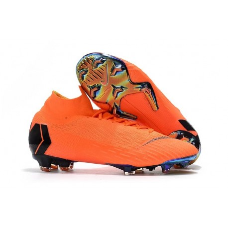 f68f03d9f75 Soccer Shoes For Men - Nike Mercurial Superfly 6 Elite FG Total Orange Black  Volt