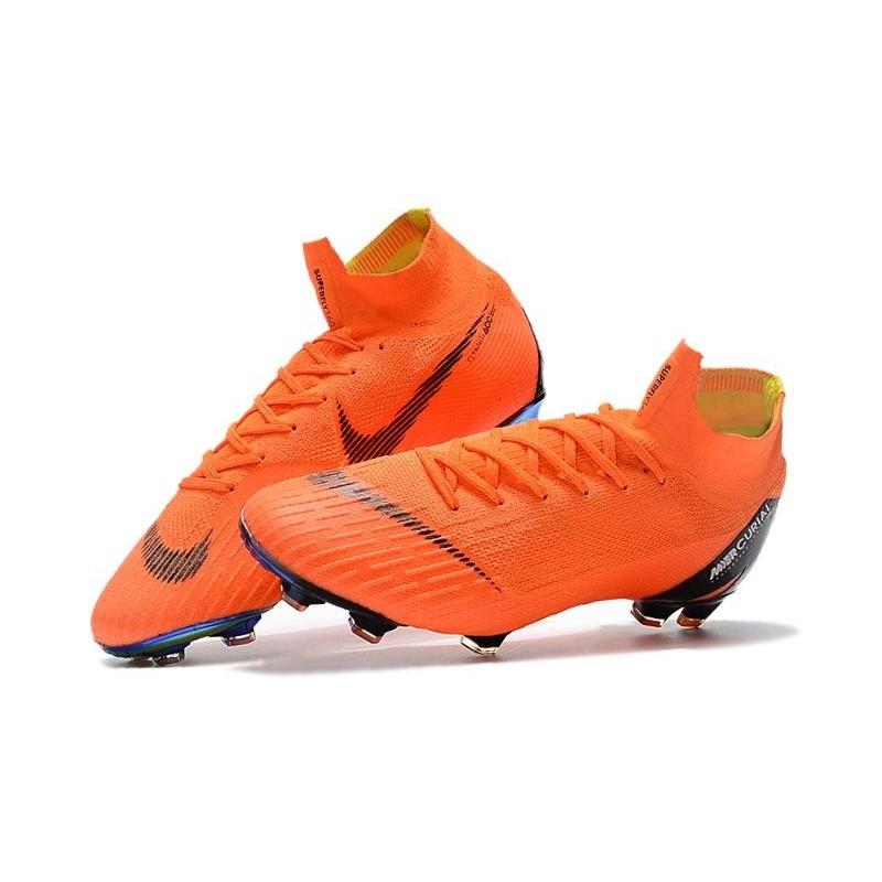 fbd20eb8e02 Soccer Shoes For Men - Nike Mercurial Superfly 6 Elite FG Total Orange  Black Volt