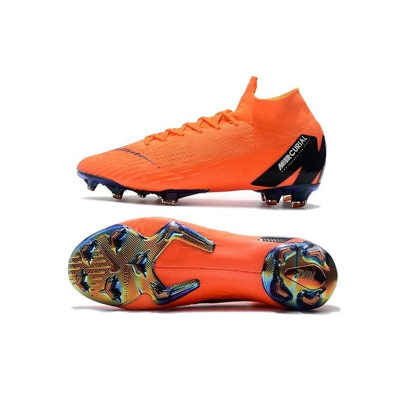 1c9928b3c Soccer Shoes For Men - Nike Mercurial Superfly 6 Elite FG Total Orange  Black Volt