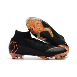 Soccer Shoes For Men - Nike Mercurial Superfly 6 Elite FG Black Total Orange White