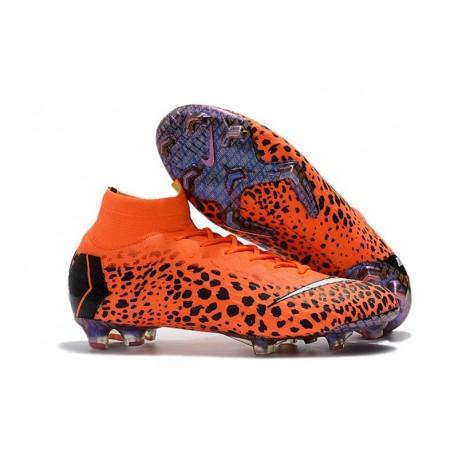 Soccer Shoes For Men - Nike Mercurial Superfly 6 Elite FG CR7 Black Orange White