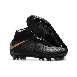 Nike Soccer Cleats - New Nike Hypervenom Phantom III DF FG Black Metallic Vivid Gold