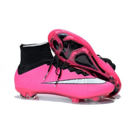 2bbd76c95 Nike Men s Mercurial Superfly 4 FG Football Cleats Hyper Pink White Black