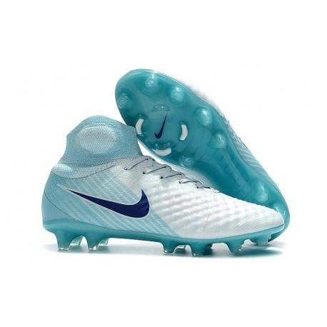 New Nike Magista Obra II FG Soccer Shoes For Sale White Blue