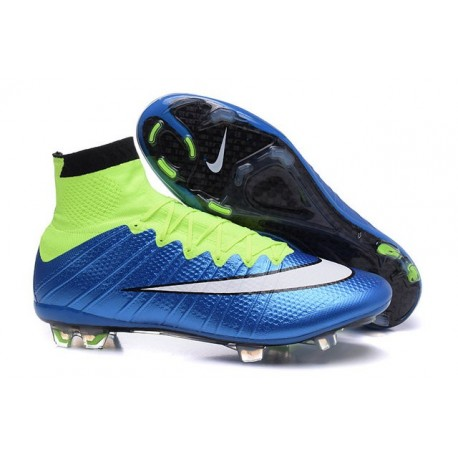 3af632793 Nike Men s Mercurial Superfly 4 FG Football Cleats Blue Lagoon White Volt  Black