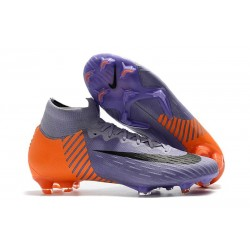 Soccer Shoes For Men - Nike Mercurial Superfly 6 Elite FG Purple Orange Black