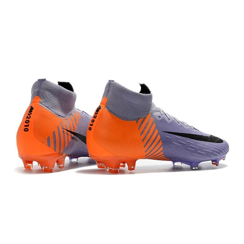 3f2c5aaa514f Soccer Shoes For Men - Nike Mercurial Superfly 6 Elite FG Purple Orange  Black