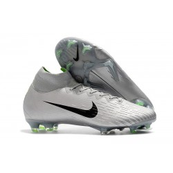 Soccer Shoes For Men - Nike Mercurial Superfly 6 Elite FG Silver Gray