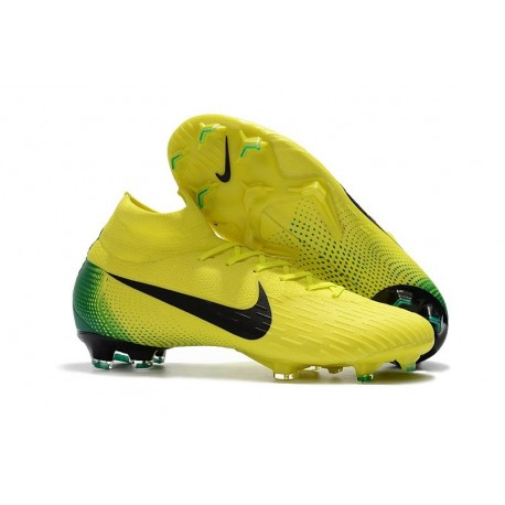 Soccer Shoes For Men - Nike Mercurial Superfly 6 Elite FG Yellow Black