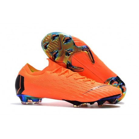 Football Boots for Men - Nike Mercurial Vapor XII 360 Elite FG Total Orange Black Volt