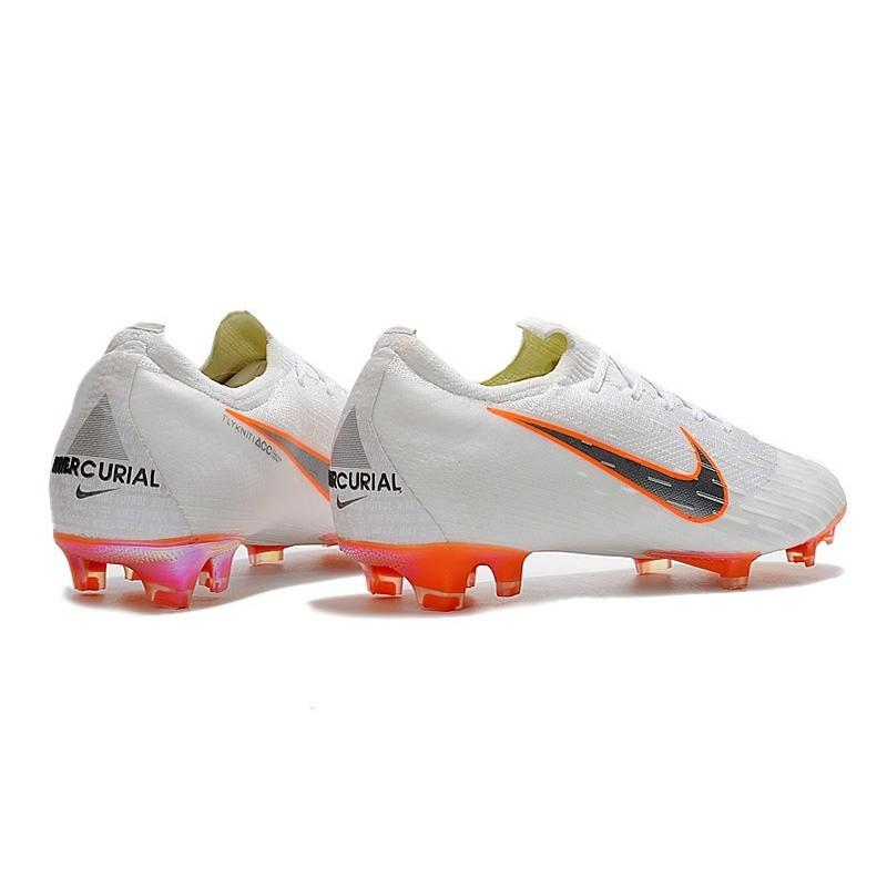 02aee2aa2e15 Football Boots for Men - Nike Mercurial Vapor XII 360 Elite FG White  Metallic Cool Grey Total Orange