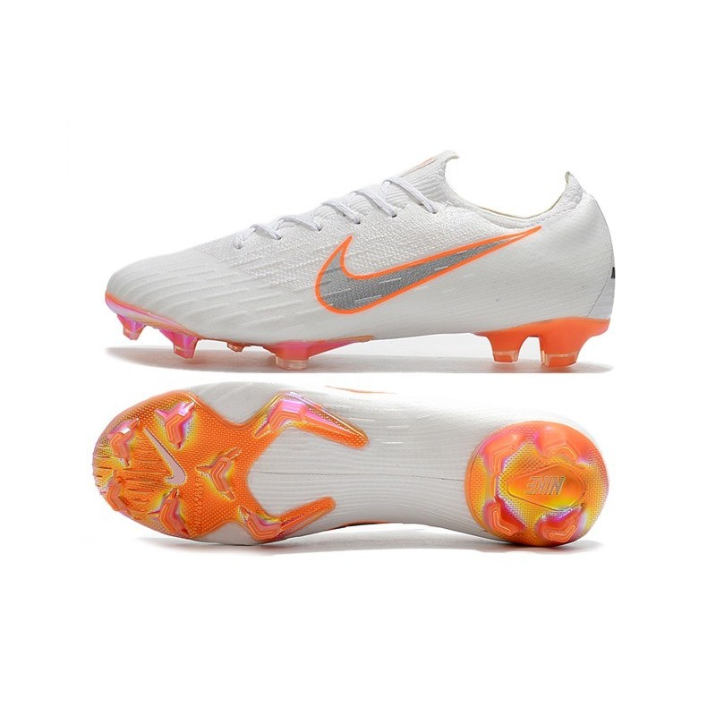 609b450d3e76b Football Boots for Men - Nike Mercurial Vapor XII 360 Elite FG White  Metallic Cool Grey Total Orange