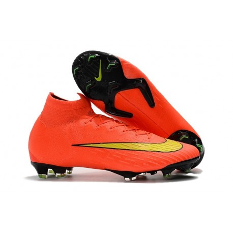 Soccer Shoes For Men - Nike Mercurial Superfly 6 Elite FG Orange Yellow