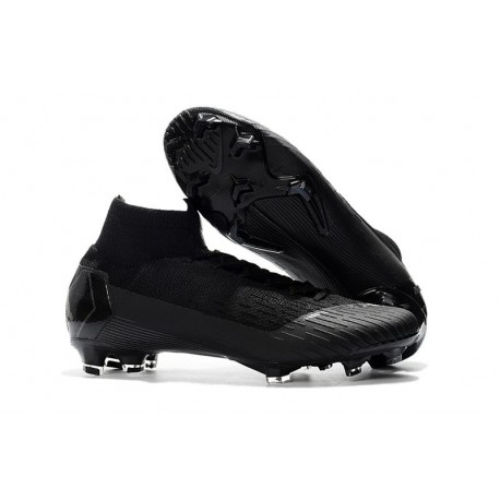 Soccer Shoes For Men - Nike Mercurial Superfly 6 Elite FG All Black World Cup