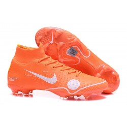 Soccer Shoes For Men - Nike Mercurial Superfly 6 Elite FG Off-White For Nike - Orange White Blue Yellow
