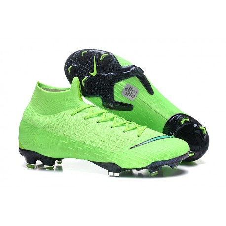 Soccer Shoes For Men - Nike Mercurial Superfly 6 Elite FG Green Black