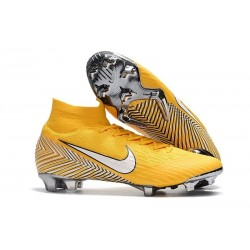 Soccer Shoes For Men - Nike Mercurial Superfly 6 Elite FG Amarillo White Black