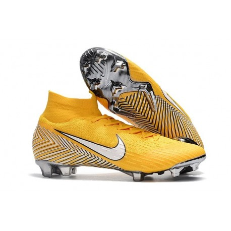 75e8c11a14f Soccer Shoes For Men - Nike Mercurial Superfly 6 Elite FG Amarillo White  Black