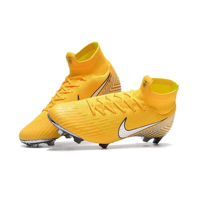 317b1d77ca Soccer Shoes For Men - Nike Mercurial Superfly 6 Elite FG Amarillo White  Black