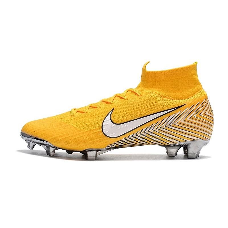 size 40 d4bdb 9ae53 Soccer Shoes For Men - Nike Mercurial Superfly 6 Elite FG Amarillo White  Black