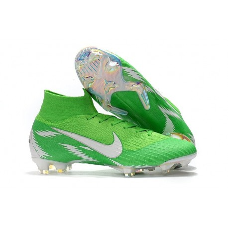 Soccer Shoes For Men - Nike Mercurial Superfly 6 Elite FG Green Silver