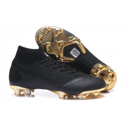 Soccer Shoes For Men - Nike Mercurial Superfly 6 Elite FG Black Gold