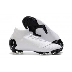 Soccer Shoes For Men - Nike Mercurial Superfly 6 Elite FG White Black