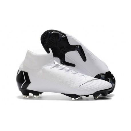 Soccer Shoes For Men - Nike Mercurial Superfly 6 Elite FG White Black