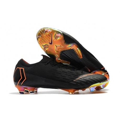 Football Boots for Men - Nike Mercurial Vapor XII 360 Elite FG Black Total Orange White
