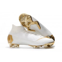 2018 Nike cr7 Mercurial Superfly 6 Elite FG White Gold