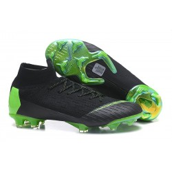 Men Soccer Cleats Nike Mercurial Superfly 6 Elite FG - Black Green