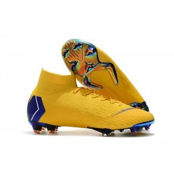 2018 Nike cr7 Mercurial Superfly 6 Elite FG Amarillo Blue / Yellow Blue