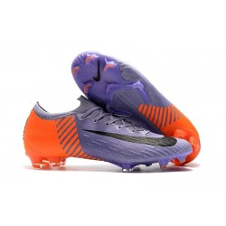 New Men Soccer Shoes Nike Mercurial Vapor XII 360 Elite Firm-Ground Purple Orange Black