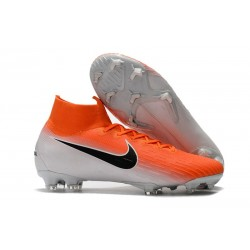Soccer Shoes For Men - Nike Mercurial Superfly 6 Elite FG Orange White