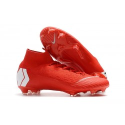 Soccer Shoes For Men - Nike Mercurial Superfly 6 Elite FG Red White