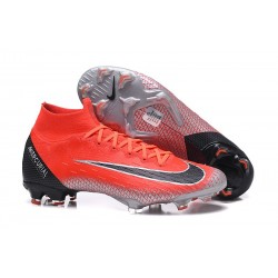 Soccer Shoes For Men - Nike Mercurial Superfly 6 Elite FG Red Black