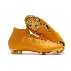 Soccer Shoes For Men - Nike Mercurial Superfly 6 Elite FG Golden