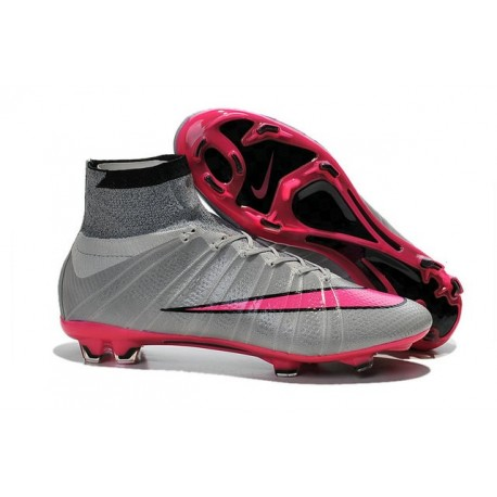 Best Nike Men's Mercurial Superfly IV FG Football Cleats Wolf Grey Hyper Pink Black