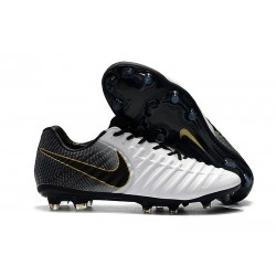 Soccer Shoes For Men Nike Tiempo Legend 7 FG - White Black Gold