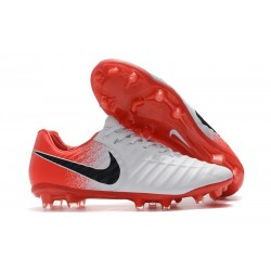 Football Cleats Nike Tiempo Legend VII FG - White Red Black